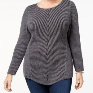 NWT Style Co Directional Ribbed-Knit Sweater